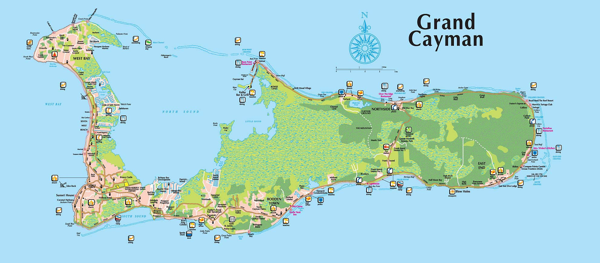 Cayman Islands Map Full Size Grand Cayman Island Map Cayman Islands Map